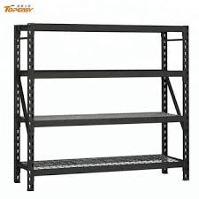 Powder Coat Racks Impressive Custom Black Powder Coating Rack Metal Shelf With Wire Mesh Deck