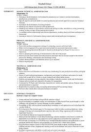 Edi Administrator Sample Resume Technical Administrator Resume Samples Velvet Jobs 23