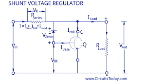 voltage regulators different types working principle design zener controlled transistor shunt voltage regulator