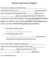 Examples Of Contracts Between Two Businesses Example Of Business