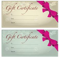 gift voucher template sample blank recipient gorgeous gift certificate design template example brown and blue background also pink ribbon and epic