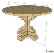 farmhouse pedestal table free woodworking plans to build a chunky french farmhouse style round pedestal table