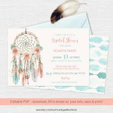 Dream Catcher Vancouver Boho Dream Catcher Invitation DIY 100 Weddbook 24