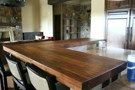 bar countertop ideas stained wood board top home with regard to idea 22