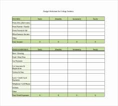 Budgeting Worksheet For College Students Lovely 7 Monthly