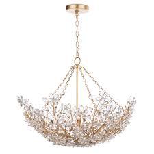 regina andrew design cheshire basin pendant chandelier in gold leaf 16 1174gl