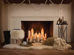 candles for decorating fireplace