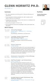 Psychology Sample Resumes Clinicalpsychologistresume Example Psychologist Resume