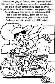 Zwarte Piet Ging Uit Fietsen Kleurplaat