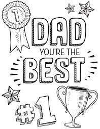 Small Picture Dad Youre The Best Printable Personalized Coloring Pages