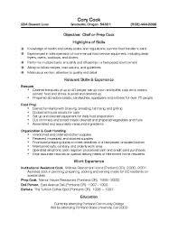 Example Of Cook Resume cooking resume prep cook resumes targergolden dragonco astonishing 1