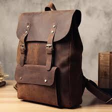vintage mens leather backpacks