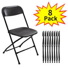 folding chairs for sale. 8 PCS Plastic Folding Chairs Stackable Wedding Party Event Commercial Black For Sale