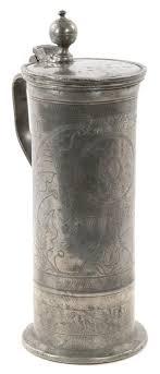 Pewter Antiques Art Tankard Award Anthonys German 18th Fine Century amp; – Shooting