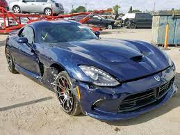 Salvage 2017 Dodge Viper Gts Coupe For Sale Salvage Title Dodge Viper Dodge Viper Gts Viper Gts