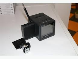 sony tv accessories. vintage sony watchman portable lcd tv w/ accessories tv m