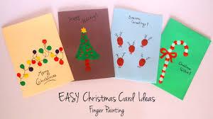 Christmas Card Ideas With Lights Diy Christmas Card Ideas Easy Finger Painting Handmade Greeting Cards Kids Craft Ideas