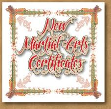 Martial Arts Certificate Templates Certificate Design Certificate Border Art In Vector Format