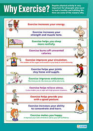 Why Exercise Pshe Educational Wall Chart Poster In High
