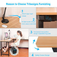 home office l desk. Tribesigns Modern L-Shaped Desk Corner Computer PC Latop Study Table Workstation For Home Office, Wood \u0026 Metal: Amazon.co.uk: Kitchen Office L