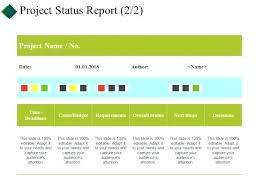 Project Status Slide Project Status Report Template Presentation Ideas Slide 1