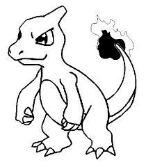 Small Picture Coloring Pages Pokemon Charmeleon Drawings Pokemon
