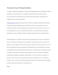 persuasive essay writing guidelines