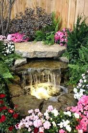 waterfall fountain with pond and stone diy outdoor small garden water designs home landscape
