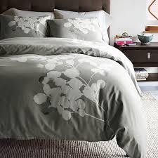 grey solarized duvet cover modern bedspreads fl