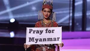 Miss-Universe-Teilnehmerin aus Myanmar ...