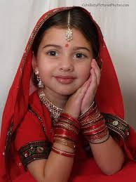 beautiful indian toddler picture dressed up like princess