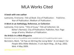 Work Cited Page Mla Format Template Citation Tailoredswift Co