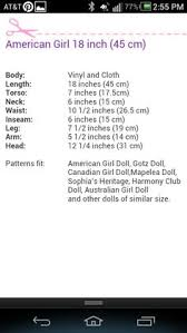 American Doll Size Chart 61 Paradigmatic American Girl Size Chart