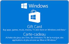 Microsoft Giftcard Microsoft Windows Gift Card