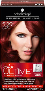 Schwarzkopf Hair Dye Colour Chart Schwarzkopf Color Ultime Flaming Reds Vintage Red Hair Color Box