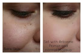 arbonne primer before and after