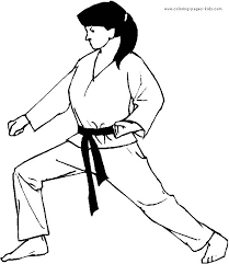 Small Picture 12 best Karate coloring pages images on Pinterest Judo Bible