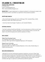3d Animator Resumes Pleasant 3d Character Animator Sample Resume About 3d Animator