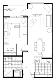 Best 1 Bedroom Apartment Floor Plans Ideas Design Ideas One Bedroom  Apartment Design