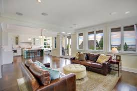 how to clean leather furniture living room traditional with area rug blue island image by rw anderson homes