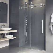 frameless sliding shower doors. Interesting Doors Shop VIGO Elan Adjustable Frameless Sliding Shower Door  Free Shipping  Today Overstockcom 4725784 With Doors P