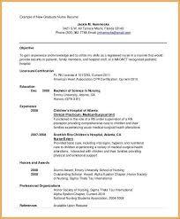 Nursing Graduate Resume Example Of Resume For Nursing Student Graduate Resume