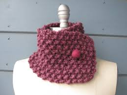 Felted Wool Designs Mauve Neck Warmer With Berry Felted Wool Button Rivka Knit