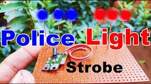 Easy Way To Make Police Siren Light Strobe Circuit For Room Decor
