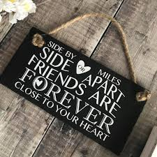 Quote Sign Fascinating Friendship Quote Sign Side By Side Or Miles Apart Lilybels