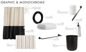 a roundup of 9 bathroom accessories combos
