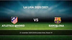 Atletico Madrid vs Barcelona H2H 21 nov ...
