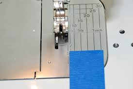 How To Mark 1 4 Inch On Sewing Machine