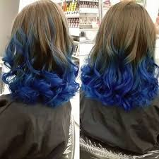 Blue Dip Dye On Light Brown Hair Image Result For Short Dark Brown Hair With Blue Highlights
