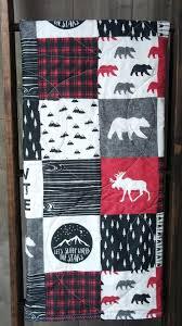 baby boy quilt toddler blanket woodland deer by patterns baby boy quilt toddler blanket woodland deer by ideas